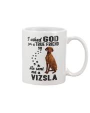 Vizsla Asked God Mug thumbnail
