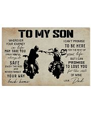 BIKER - TO MY SON 17x11 Poster thumbnail