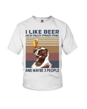 I like beer and my English Springer Spaniel Youth T-Shirt thumbnail