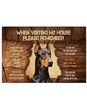 Visit home Doberman Pinscher 17x11 Poster thumbnail