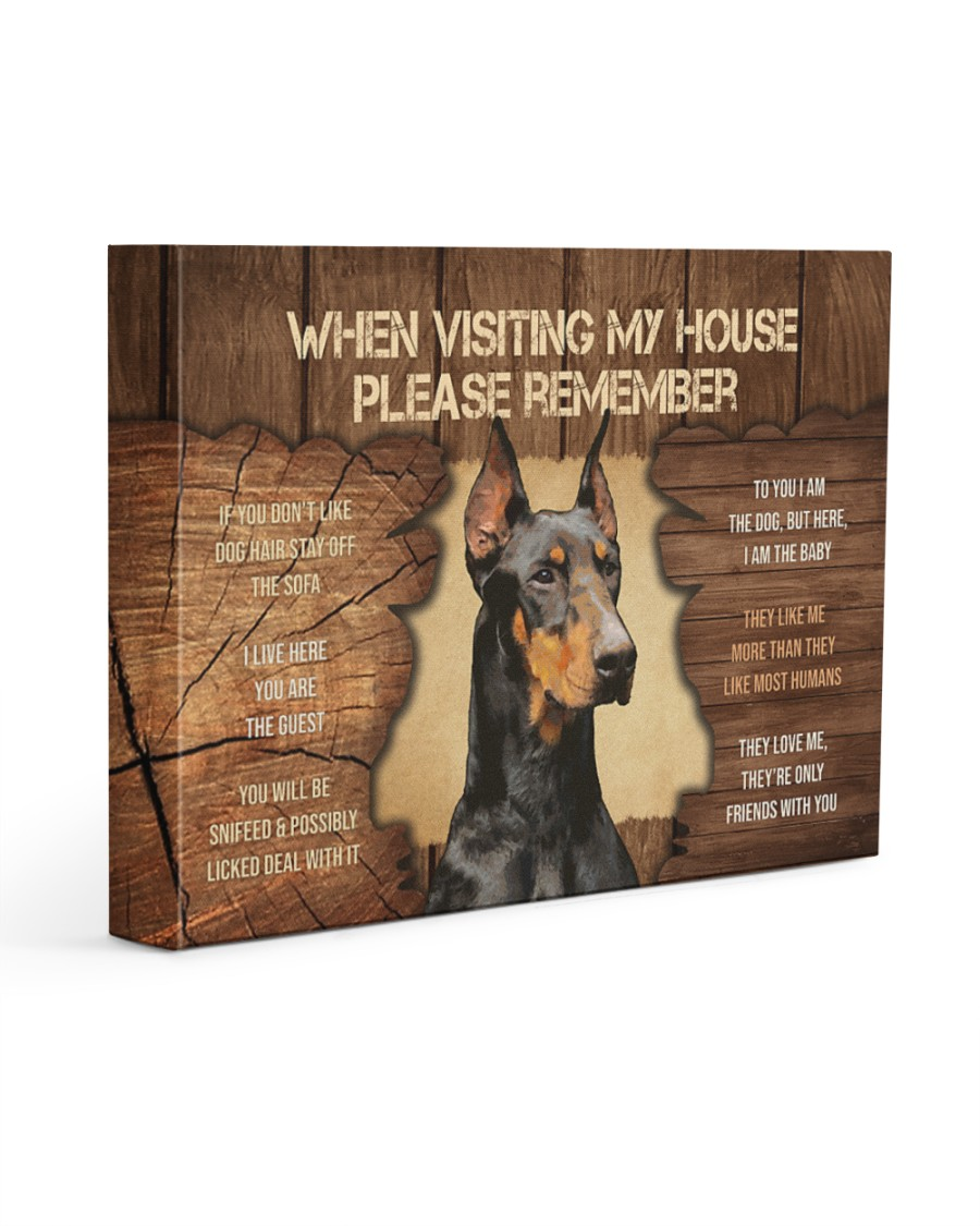 Visit home Doberman Pinscher 14x11 Gallery Wrapped Canvas Prints