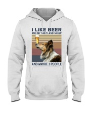 Beer and Shetland Sheep hp Hooded Sweatshirt thumbnail