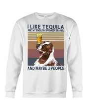 Tequila and English Springer Spaniel Crewneck Sweatshirt thumbnail