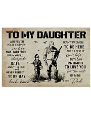 22 HUNTING-TO MY DAUGHTER 17x11 Poster thumbnail