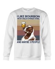 Bourbon and English Springer Spaniel Crewneck Sweatshirt thumbnail