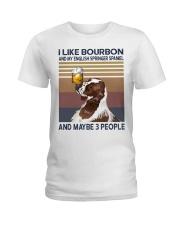Bourbon and English Springer Spaniel Ladies T-Shirt thumbnail