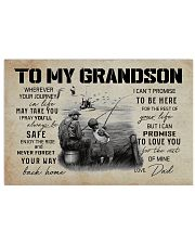 99 FISHING - TO MY GRANDSON WHEREVER YOUR JOURNEY  17x11 Poster front