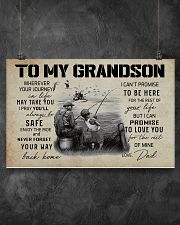 99 FISHING - TO MY GRANDSON WHEREVER YOUR JOURNEY  17x11 Poster poster-landscape-17x11-lifestyle-12