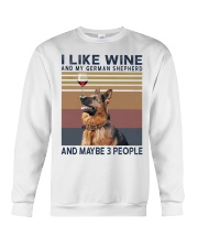 Wine and German Shepherd Crewneck Sweatshirt thumbnail