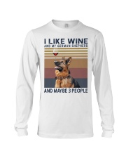 Wine and German Shepherd Long Sleeve Tee thumbnail