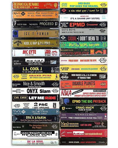 Old School Cassette Tapes Poster