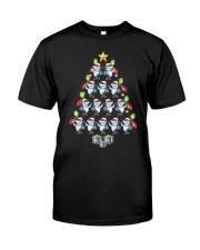 Santa Shark Xmas Tree Tshirt Elf Shark Funny Tee f Classic T-Shirt front