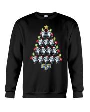 Santa Shark Xmas Tree Tshirt Elf Shark Funny Tee f Crewneck Sweatshirt thumbnail