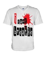 i cant breathe V-Neck T-Shirt thumbnail