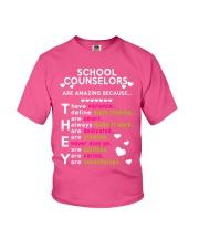 School Counselors are Amazing Youth T-Shirt thumbnail