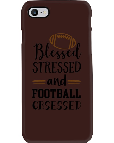 BLESSED STRESSED AND FOOTBALL OBSESSED TEE