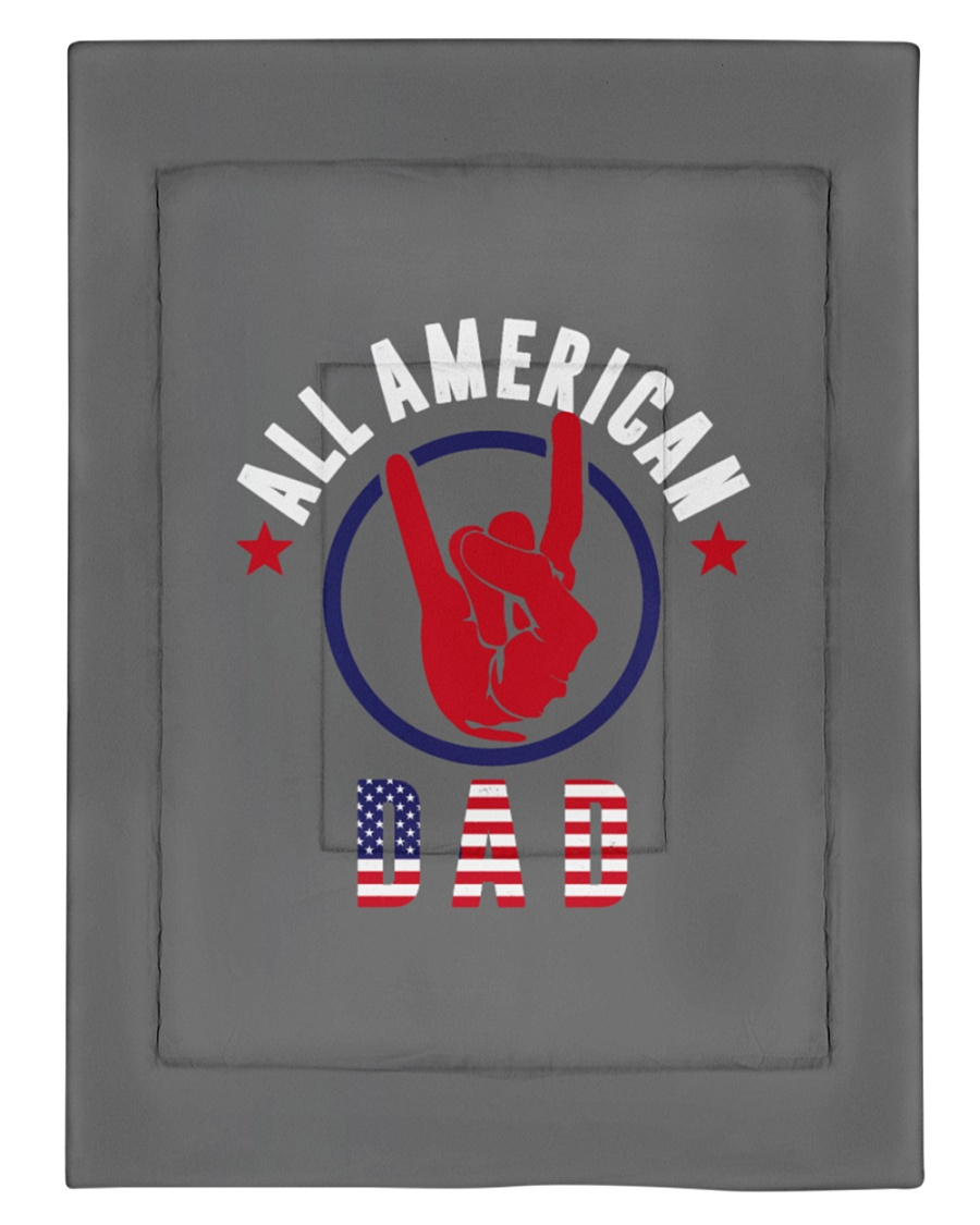 All American Dad 4th of July Father's Day America Comforter - Twin XL