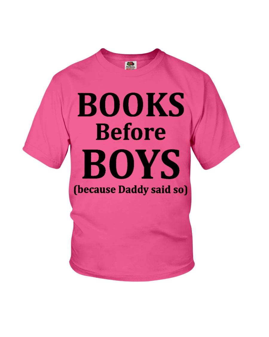 Books Before Boys Youth T-Shirt