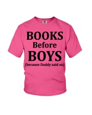 Books Before Boys Youth T-Shirt front