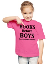 Books Before Boys Youth T-Shirt lifestyle-youth-tshirt-front-2