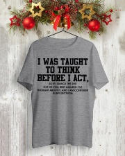 I Was Taught fr Classic T-Shirt lifestyle-holiday-crewneck-front-2