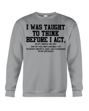 I Was Taught fr Crewneck Sweatshirt thumbnail