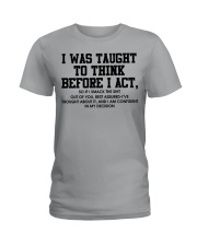 I Was Taught fr Ladies T-Shirt tile