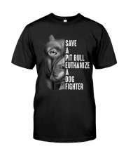 SAVE A PIT BULL Classic T-Shirt tile