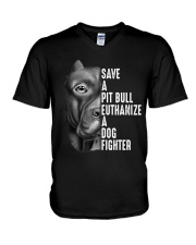 SAVE A PIT BULL V-Neck T-Shirt thumbnail