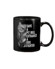 SAVE A PIT BULL Mug tile