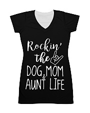 DOG MOM All-over Dress front