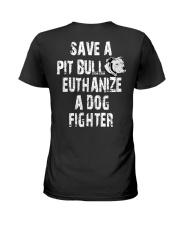 SAVE A PITBULL Ladies T-Shirt thumbnail