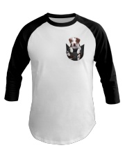 Pit bull  - Brown Pit bull Inside Pocket  Baseball Tee thumbnail