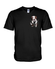 Pit bull  - Brown Pit bull Inside Pocket  V-Neck T-Shirt thumbnail