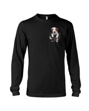 Pit bull  - Brown Pit bull Inside Pocket  Long Sleeve Tee thumbnail