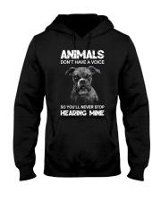 Help Animals Hooded Sweatshirt front