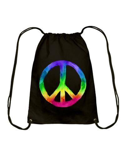 Rainbow Watercolor Tie Dye Peace Sign