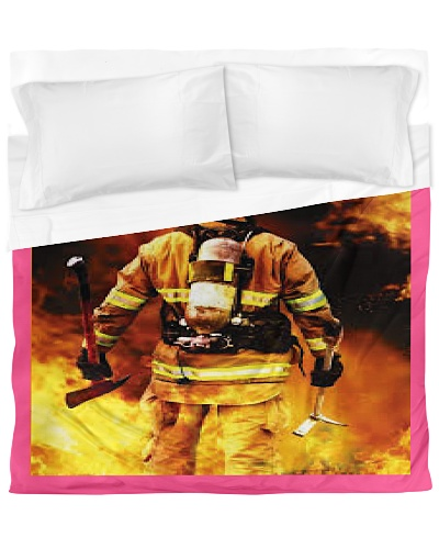 firefighter Duvet Cover - King