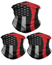 Thin Red Line Flag Firefighter Axe Neck Gaiter - 3 Pack front
