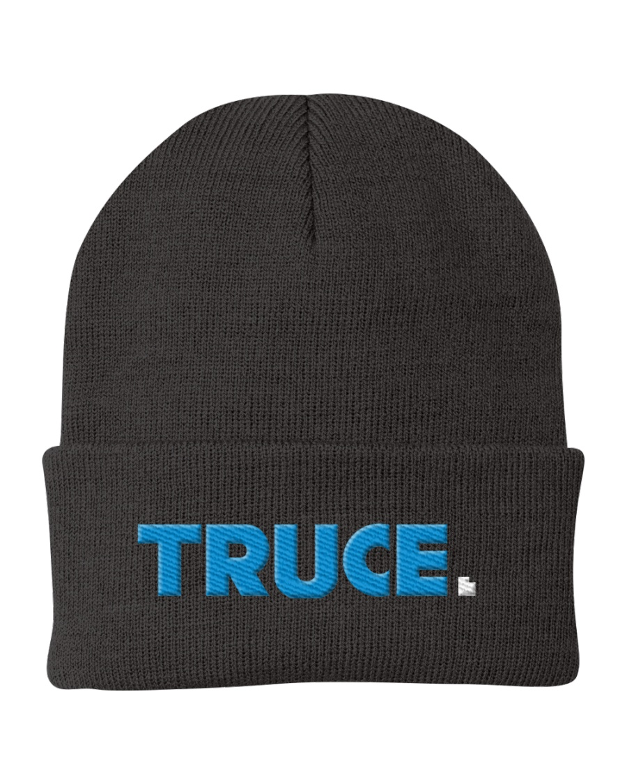 Truce Utah Embroidered Beanie Knit Beanie