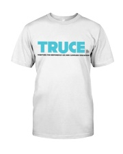 White TRUCE shirt Classic T-Shirt front
