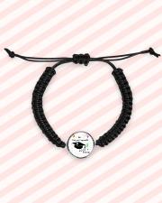 2019 Graduate Party Cord Circle Bracelet aos-bracelet-cord-front-lifestyle-3