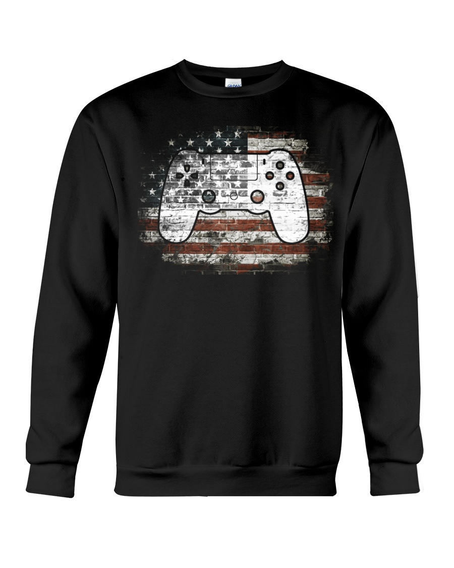 Video Game 4th Of July Independence Day Gift Crewneck Sweatshirt