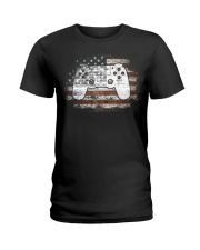 Video Game 4th Of July Independence Day Gift Ladies T-Shirt thumbnail