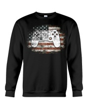4th Of July Gift Video Game Gamer Kids Boy Crewneck Sweatshirt front