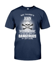 My name's John Classic T-Shirt front