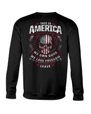 THIS IS AMERICA - WE OWN GUNS Crewneck Sweatshirt thumbnail
