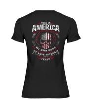 THIS IS AMERICA - WE OWN GUNS Premium Fit Ladies Tee thumbnail