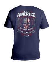 THIS IS AMERICA - WE OWN GUNS V-Neck T-Shirt thumbnail