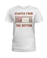 Food stamp started from the bottom shirt Ladies T-Shirt thumbnail